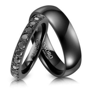 czarne obrączki ślubne